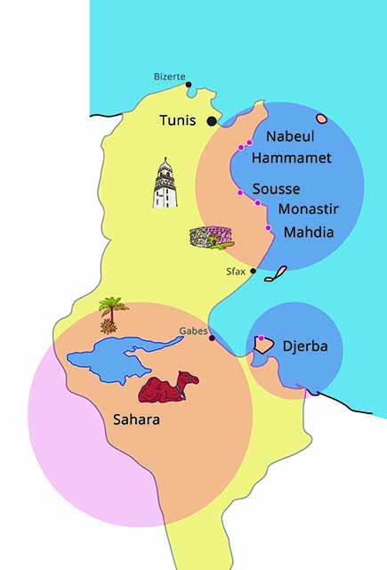 Где находится остров Джерба, Тунис