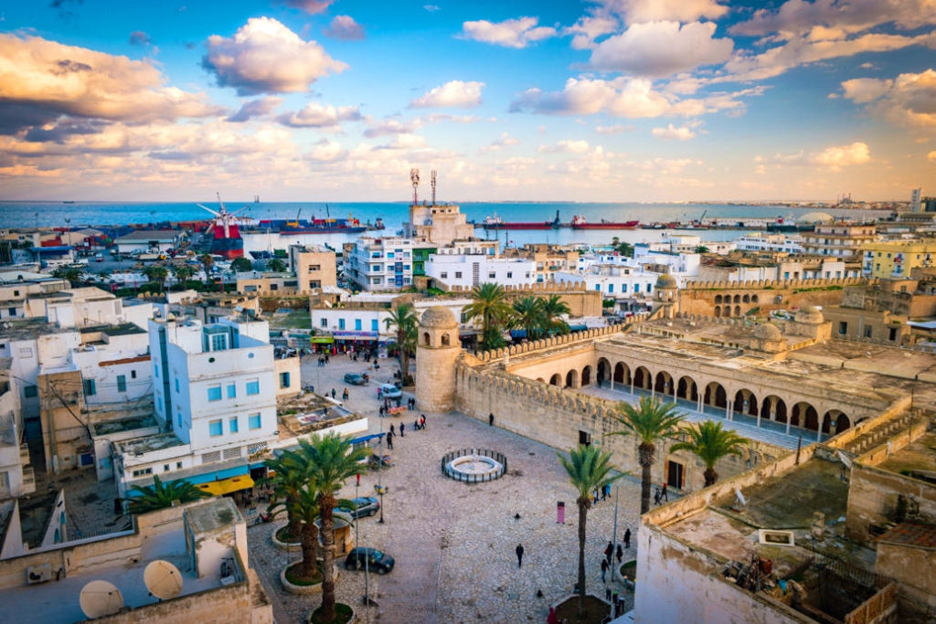 Пейзажи города курорта Монастира, Тунис