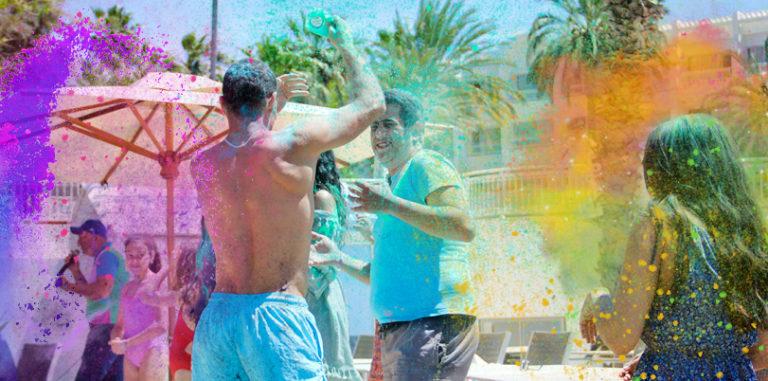 Фестиваль красок в отеле Novostar Bel Azur Thalassa & Bungalows 4*
